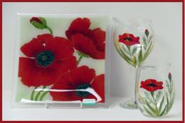 Peggy Karr Poppy Plate Gelinda Dittrich Glassware